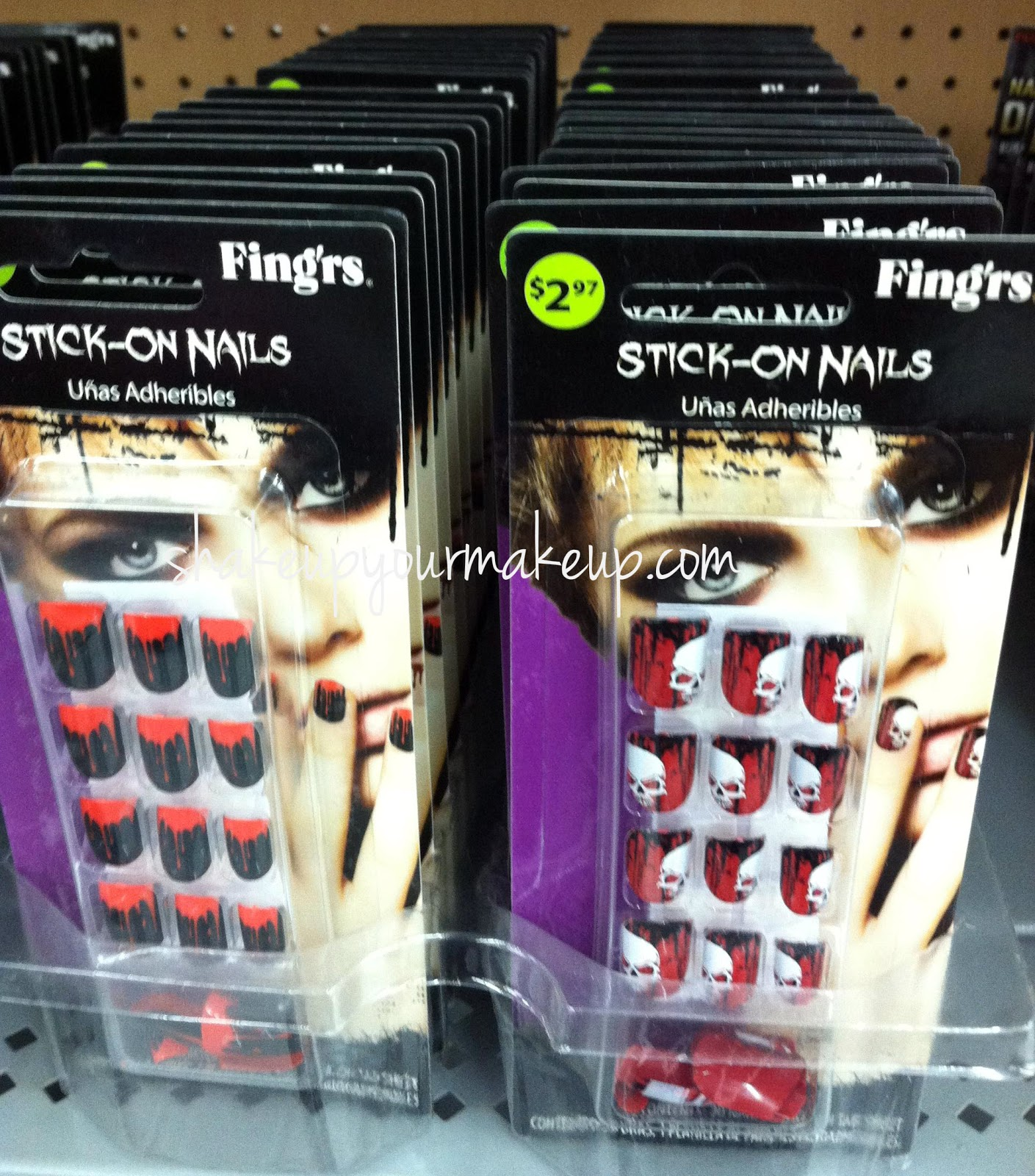 spotted at walmart fingrs stick on nails for halloween