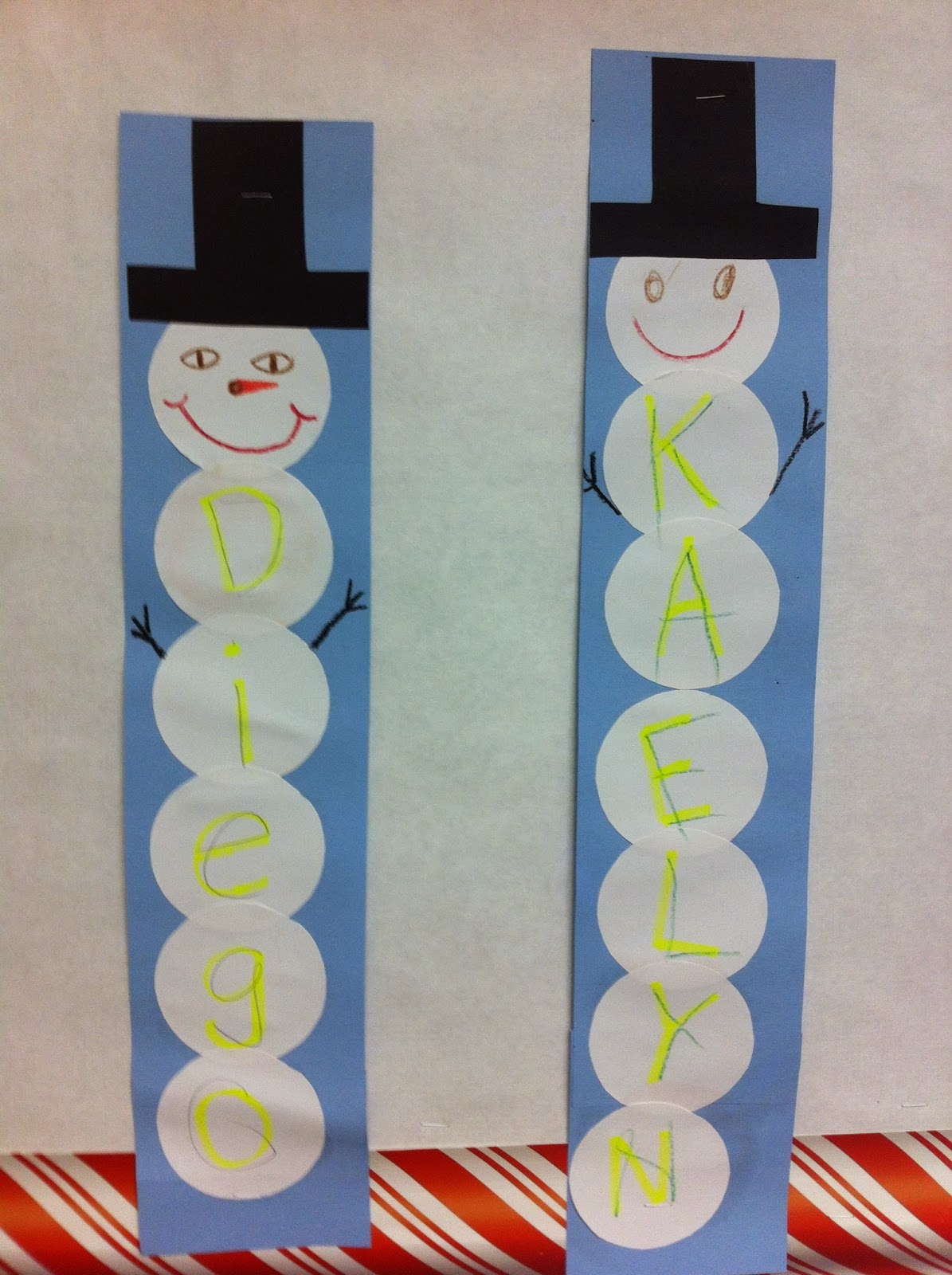 Snowman Name Craft! - The Autism Adventures of Room 83