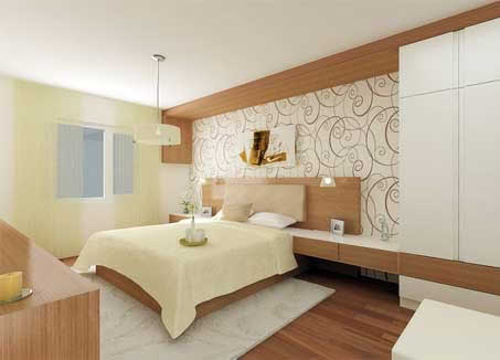 House designs minimalist design modern bedroom interior for Minimalist bed design