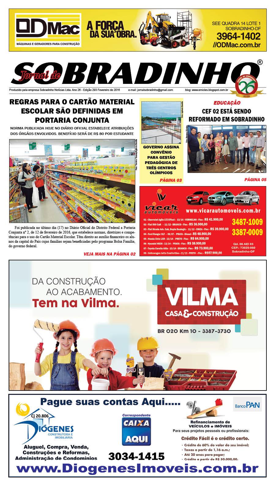 JORNAL VIRTUAL - FEVEREIRO  de 2016 - ED 293 -