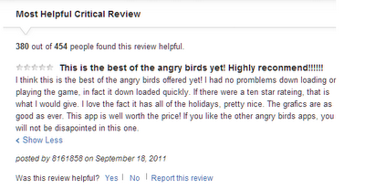 angry birds rating gone wrong