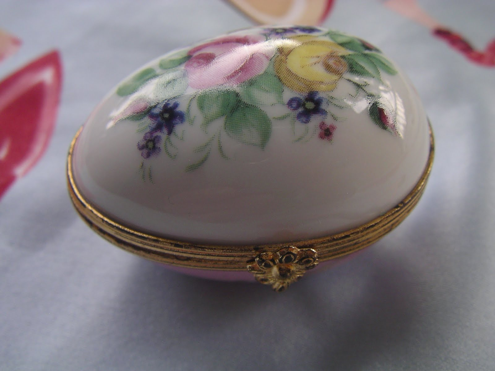 Vintage Limoges Egg Trinket Box Vintage