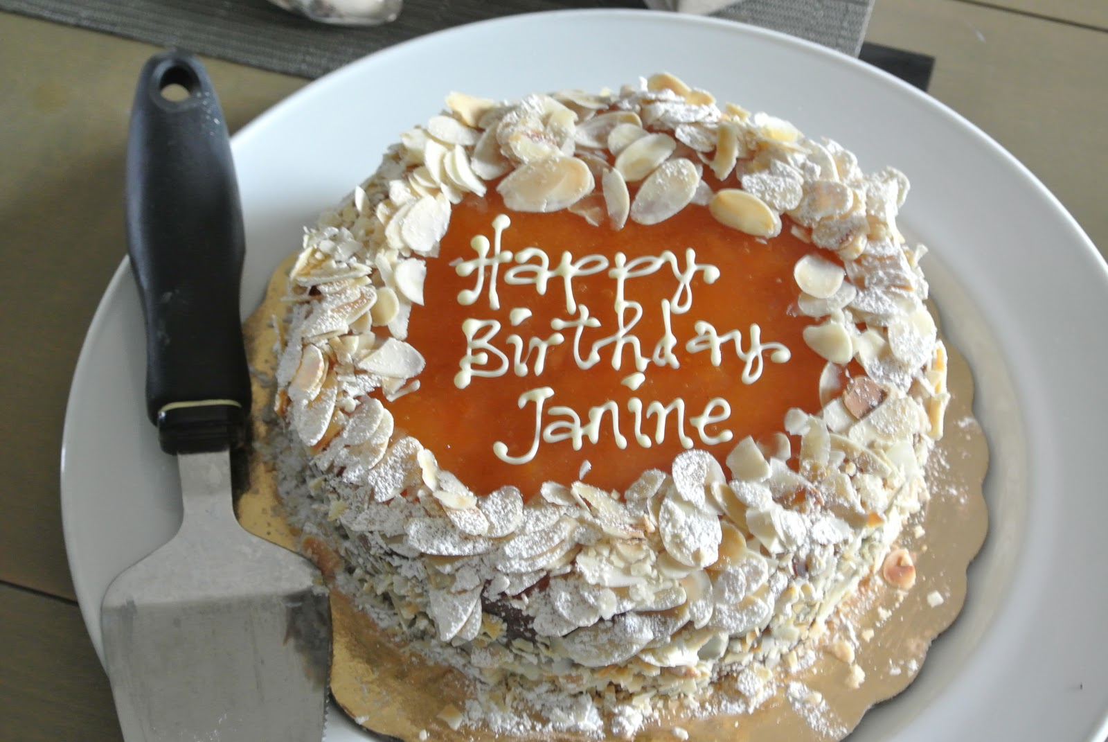 Janine S Cake Art : Pin Finishes And White Add Monogram Ribbons Thank You Tags ...