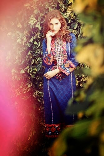 Mausummery, Embroidered Shirts, Chiffon Dupatta, Plane Dyed Trouser,Collection 2014