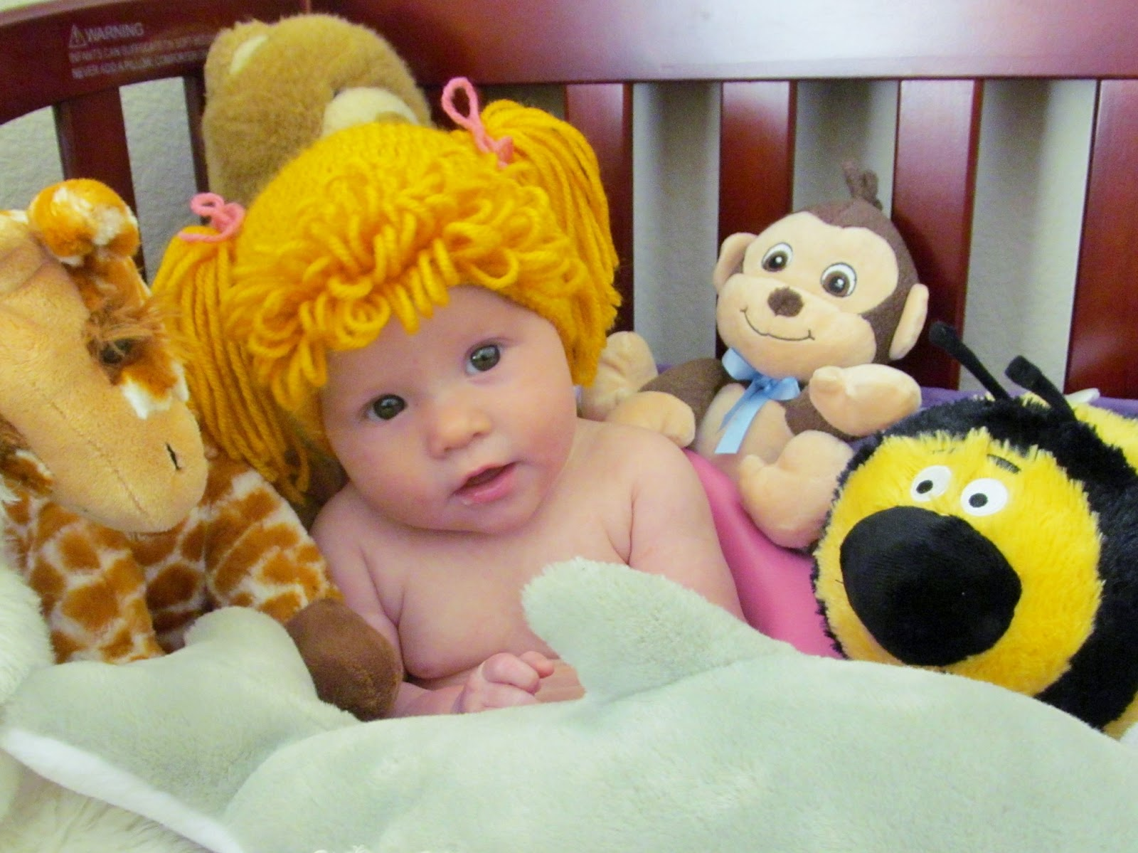 A Crafty Cook: Stash-Buster Challenge - Cabbage Patch Doll Hat