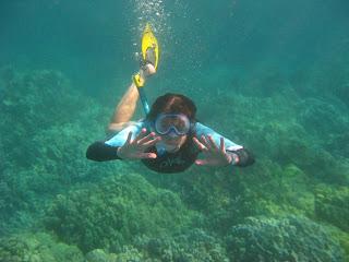 I'm snorkeling!