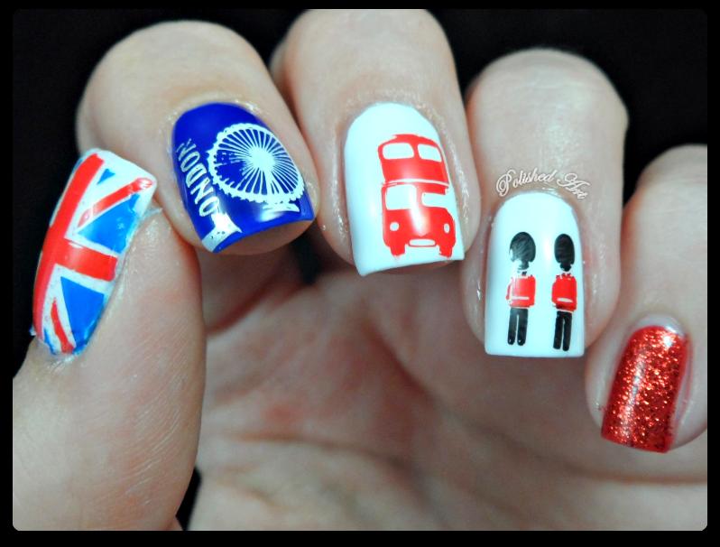 Polished art london calling london stamping nail art moyou prinsesfo Gallery