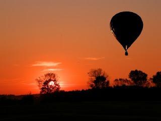 Ballonfahrt, Ballonflug, Rheinland Pfalz, Rhein, Ausflug, am Abend