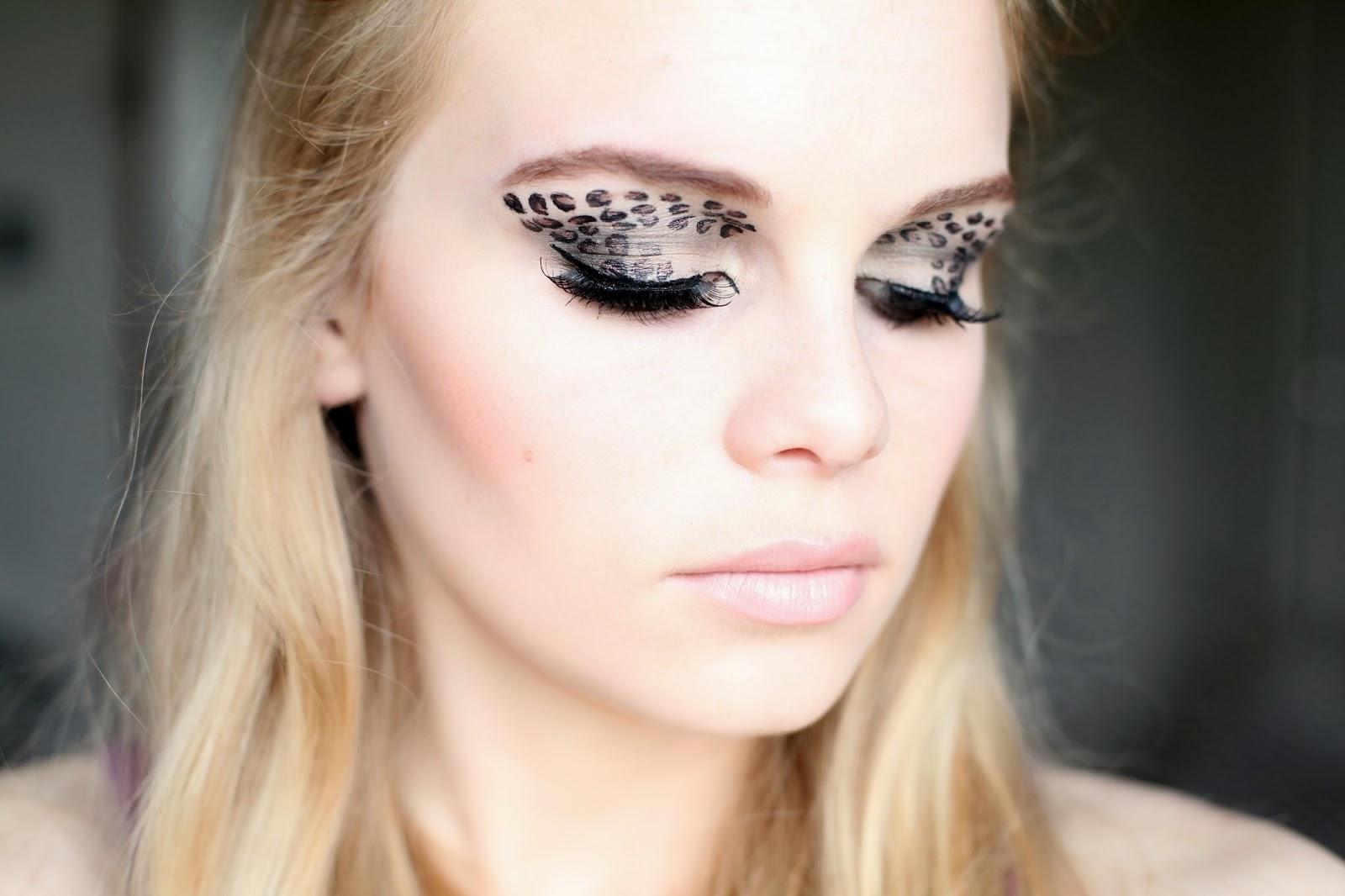 Leopard Eye Makeup Theme