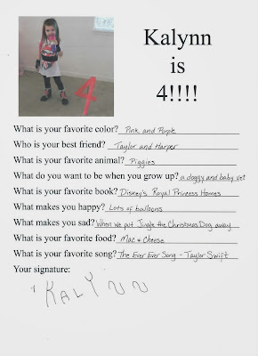 birthday questionaire so you can always look back on the things your child loved. www.thebrighterwriter.blogspot.com