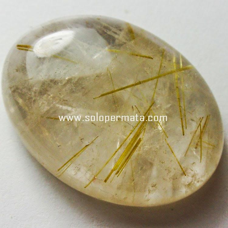 Batu Permata Kecubung Rambut - Rutile
