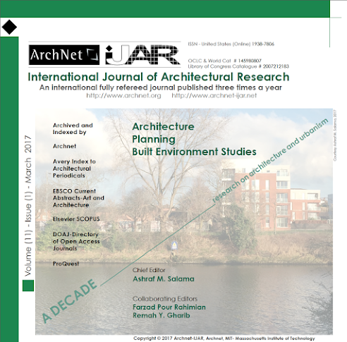 Commemorating a Decade of Architectural and Urban Research Published in Archnet-IJAR