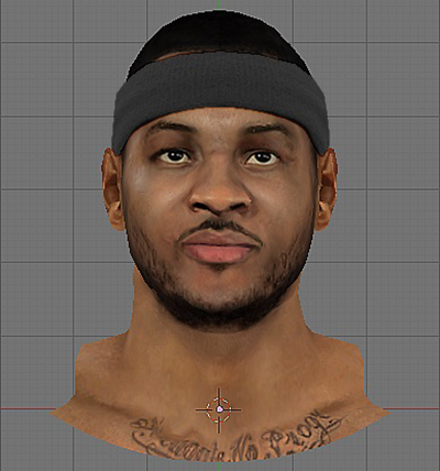 NBA 2K14 Carmelo Anthony Face Mod