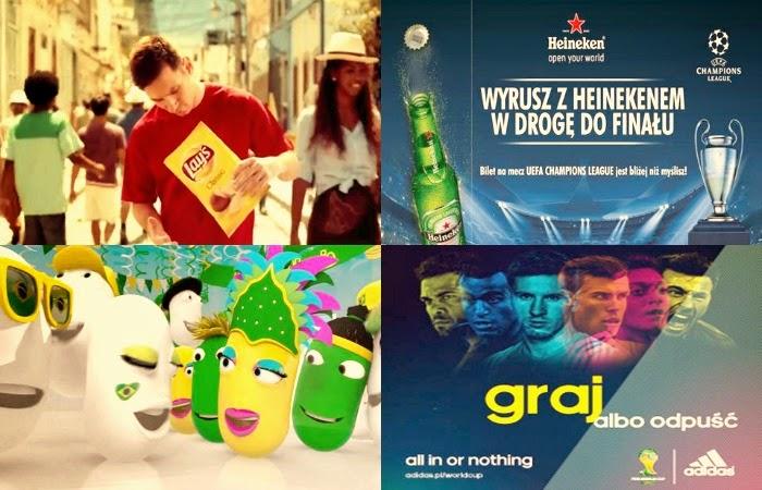 Obraz: reklama na Mundial - PKO Bank Polski, DirectTV, Gilette, Coca-Cola