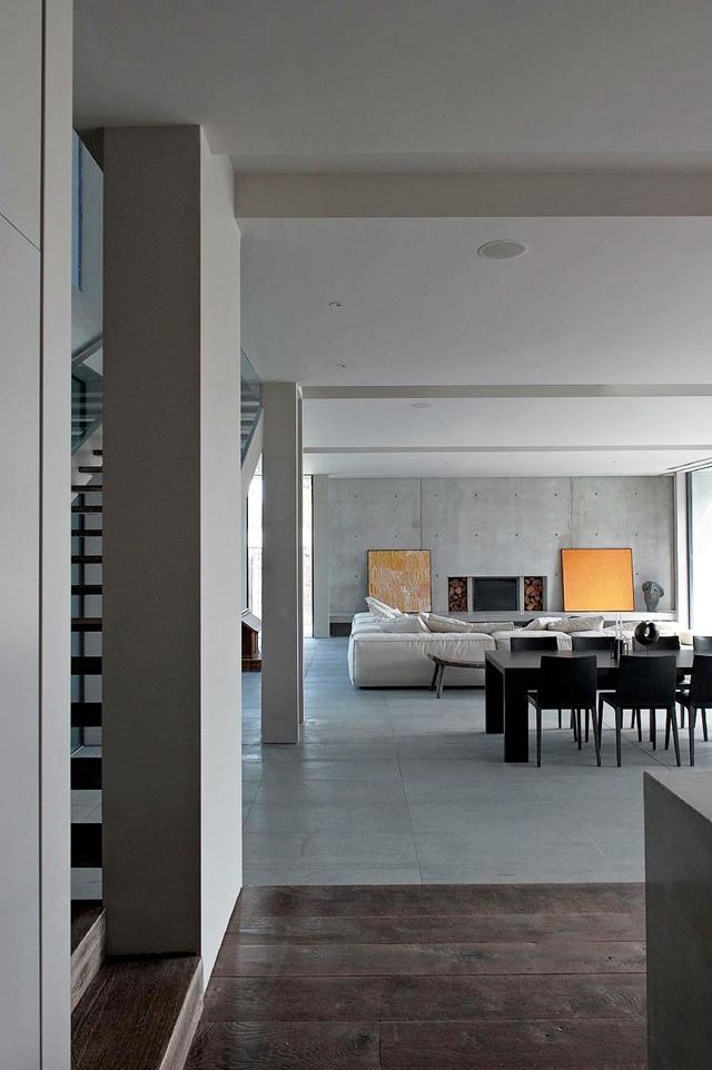 Modern industrial design living room