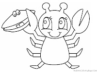Crabs Ocean Animal Printable Kids Coloring Pages