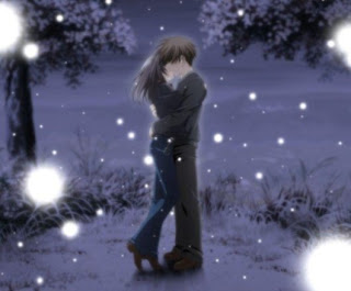 anime couple hugging wallpapers - photo #14