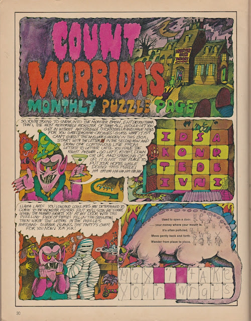 Garage Sale Finds: Count Morbida puzzle, Arthur Freidman - 1975 Dynamite pg 30