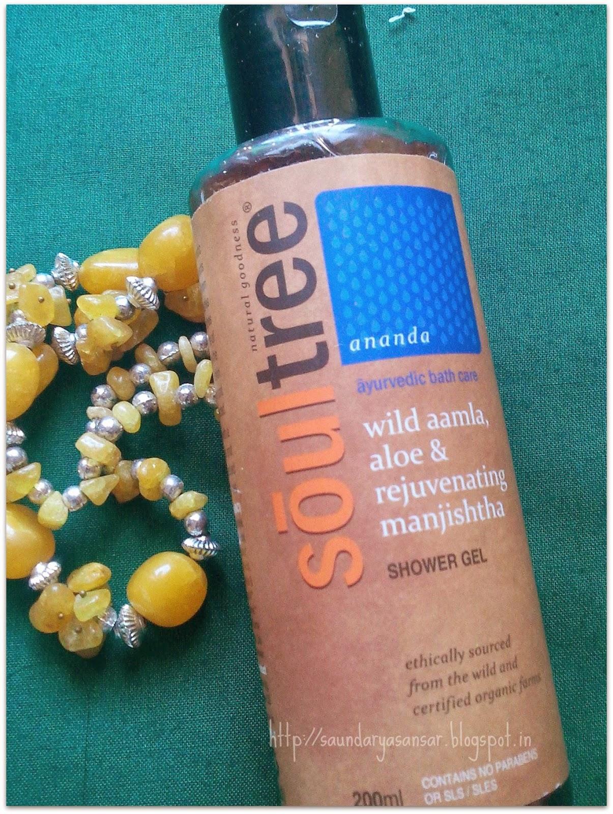 Soultree Wild Amla, Aloe & Rejuvenating manjishtha Shower Gel- Review