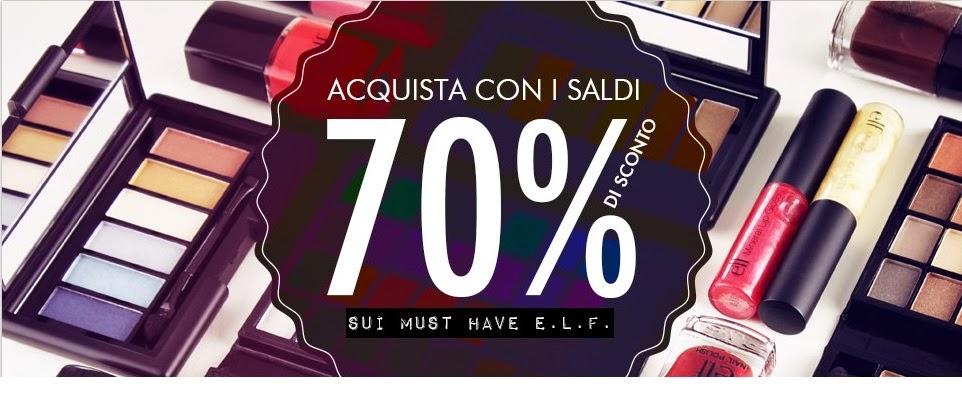 E.L.F. - Saldi: fino al 70% di sconto!