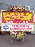bunga papan happy wedding pernikahan tangerang