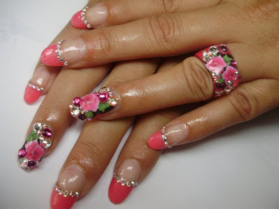 18 Pink nails design is always great idea for the weekend