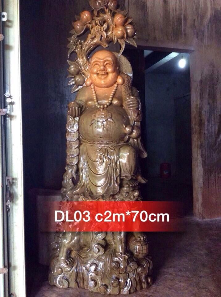Tượng Di Lặc gỗ thủy tùng mẫu DL03