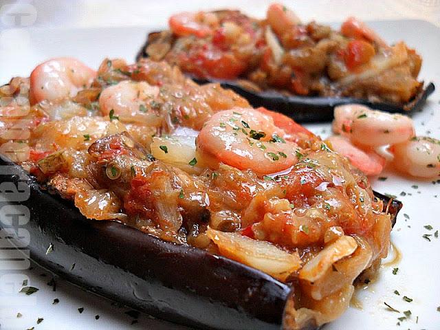 Con sabor a canela berenjenas rellenas de bacalao y gambas - Berenjenas rellenas de bacalao ...