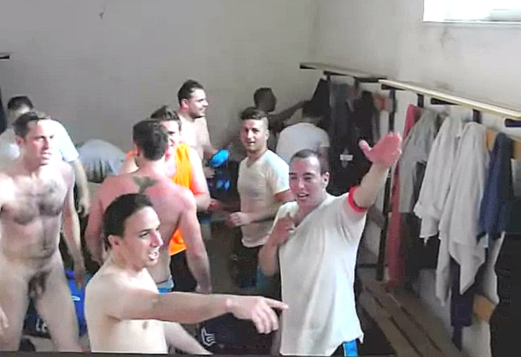 Italians Soccer Players Naked In The Locker Room Write