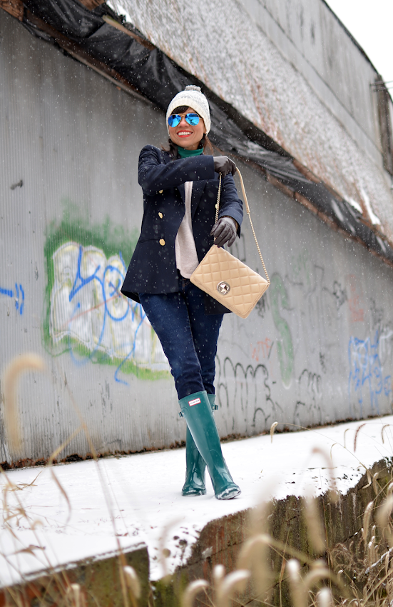 Stylish in the snow