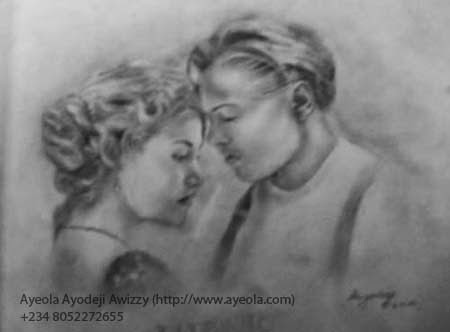 jack and rose pencil drawing by ayeola ayodeji abiodun