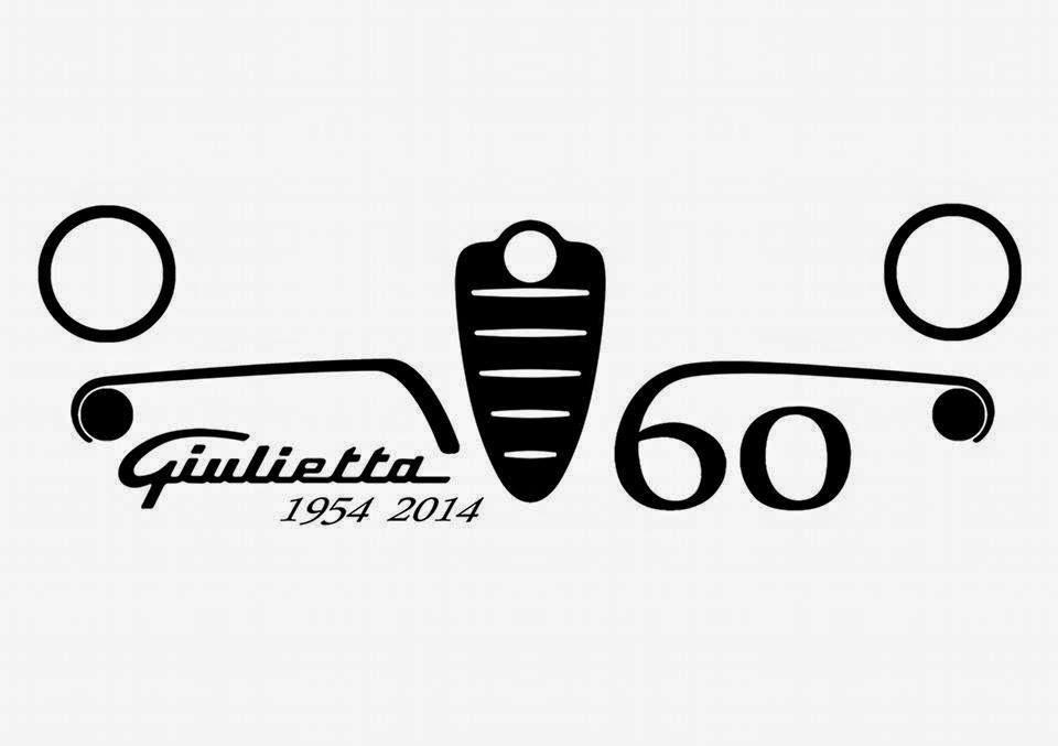LOGOTIPO OFICIAL dos 60 anni Alfa Romeo Giulietta - 1954-2014