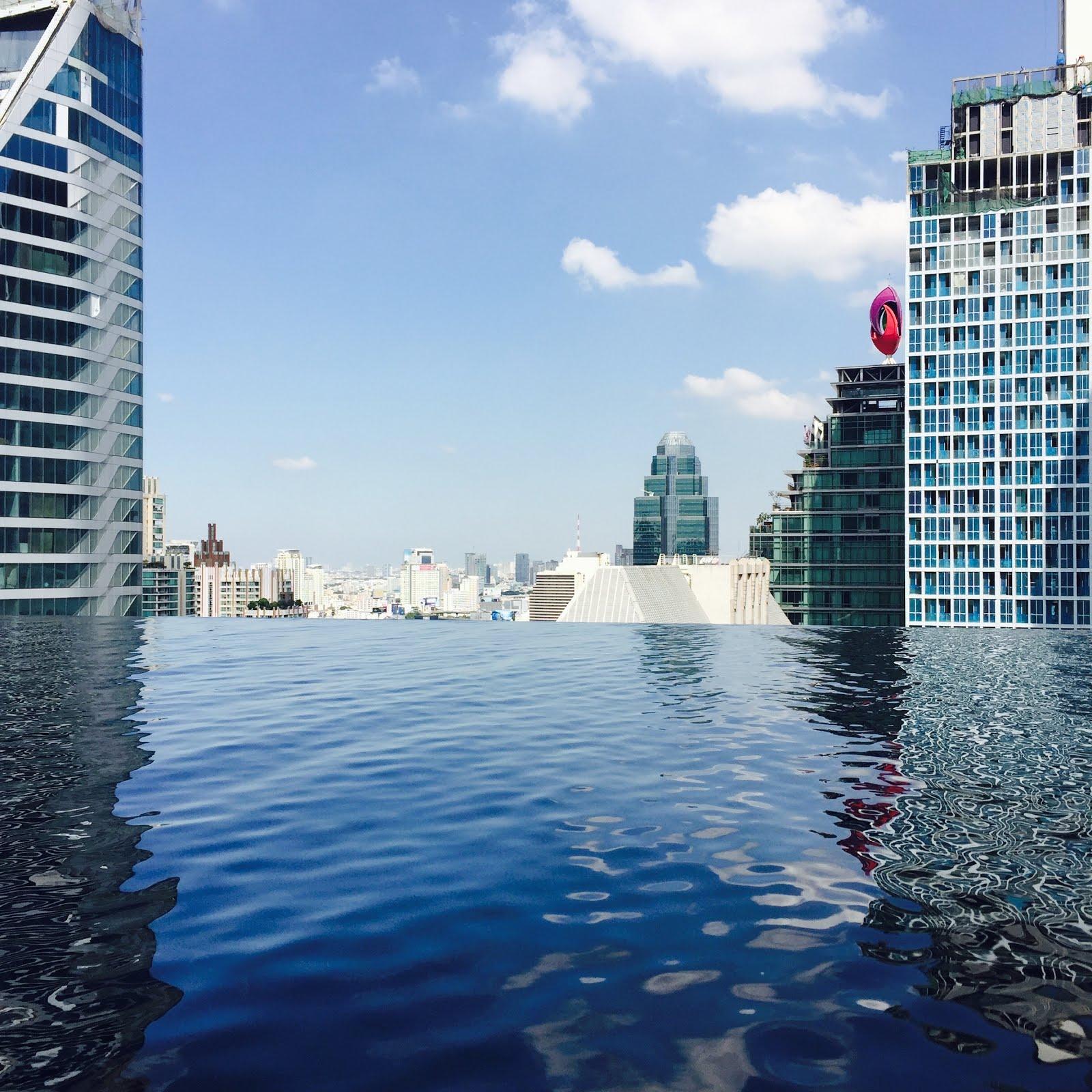 Infinity Pool at Hotel Okra in Bangkok