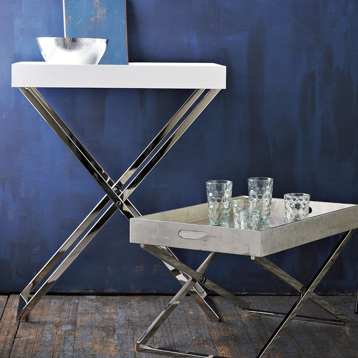 The Cuban In My Coffee Butler Tray Stand Turned Bar From West Elm - West elm tray table