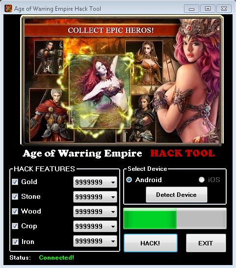 Age of Warring Empire Hacks Screenshot