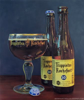 Trappist Rochefort 10 beer painting art