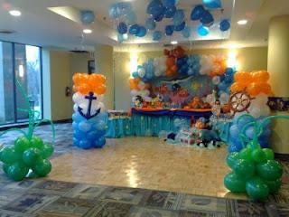 Decoração masculina para festa infantil de marinheiro