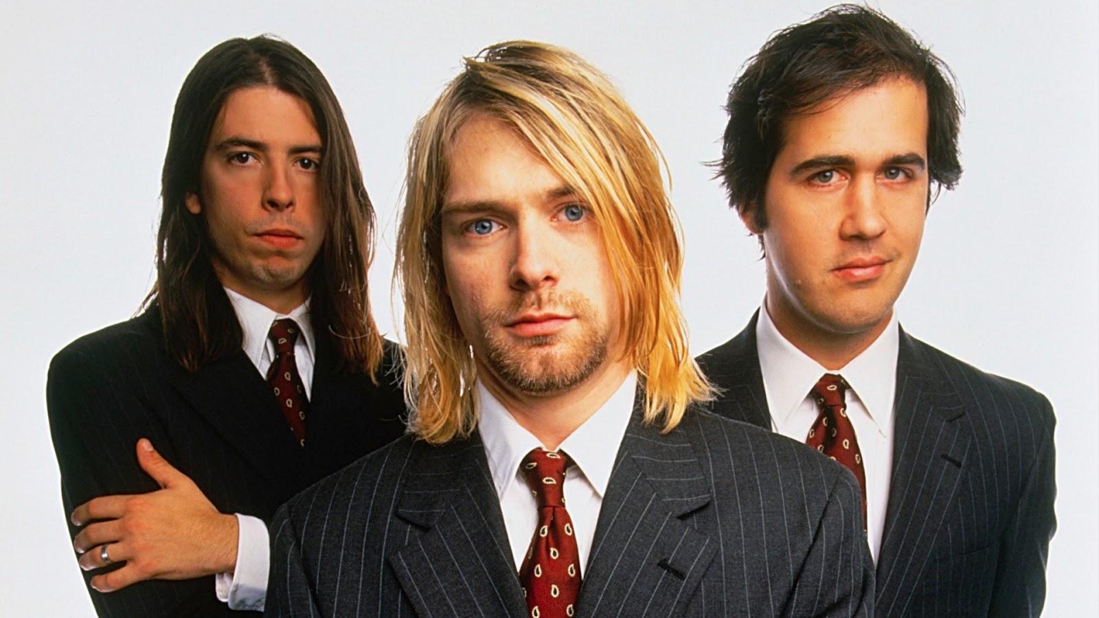 Nirvana band members Kurt Cobain Dave Grohl Krist Novoselic