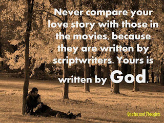 never compare your love story with movies
