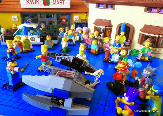 LEGO Star Wars Simpsons 75073 Vulture Droid Kwik E Mart  and minifigs