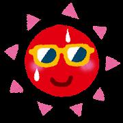 夏のイラスト「サングラスの太陽」