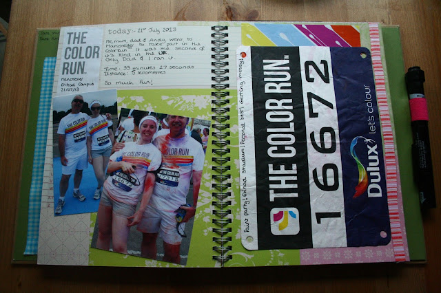 smashbook color run colour scrapbook