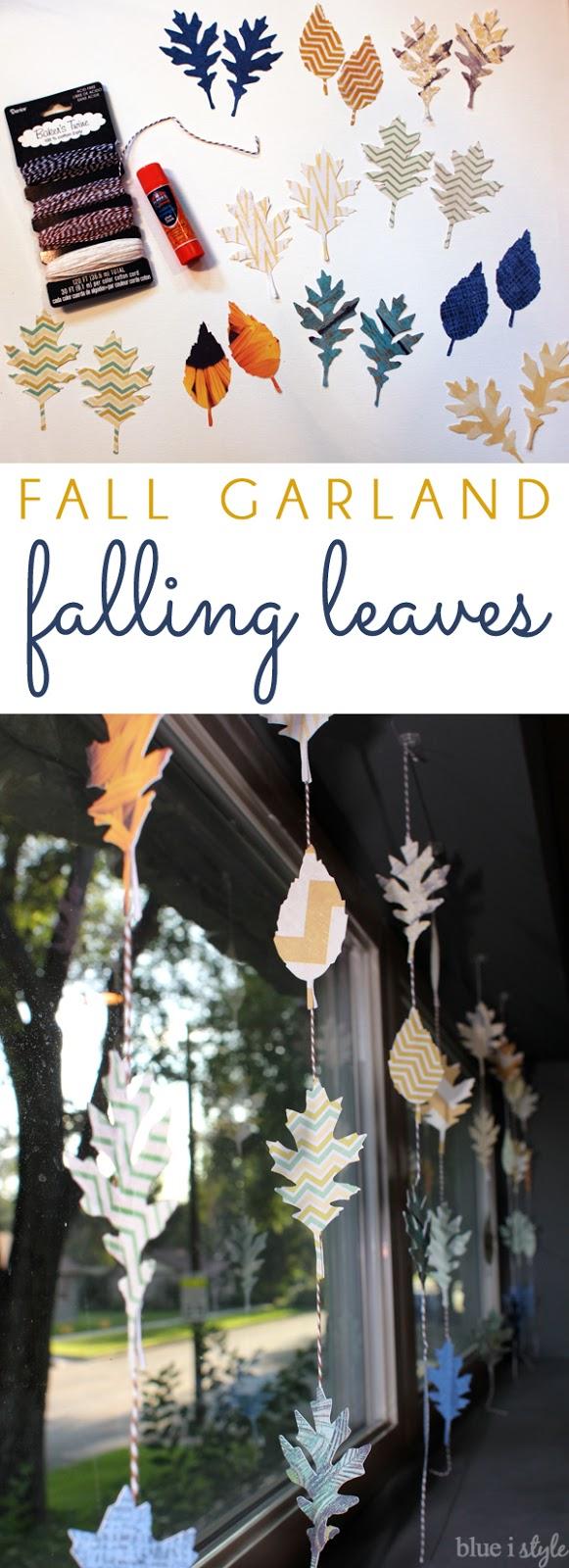 Fall Decor Falling Leaf Garland