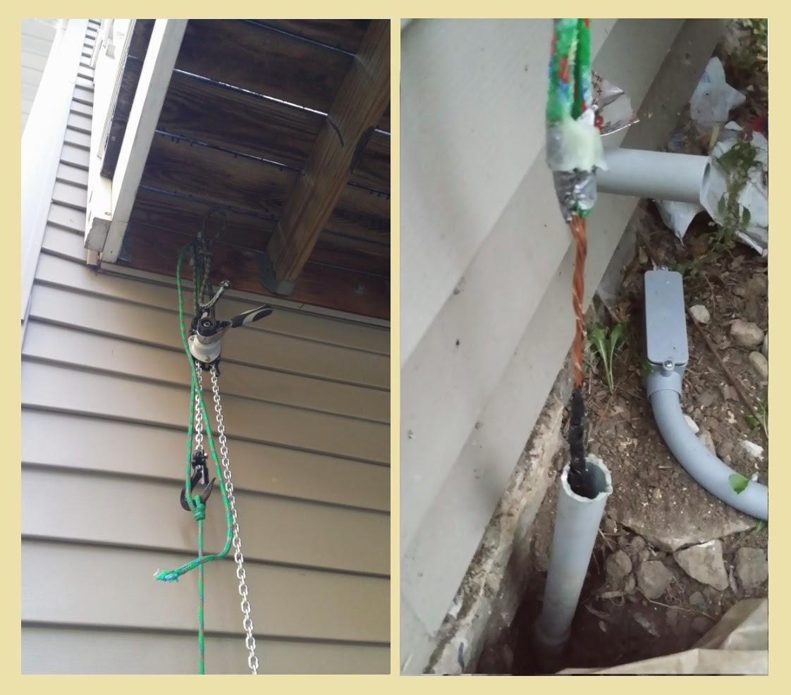 Cranky Puppy Farm: Solar: Pulling Wire Through Conduit