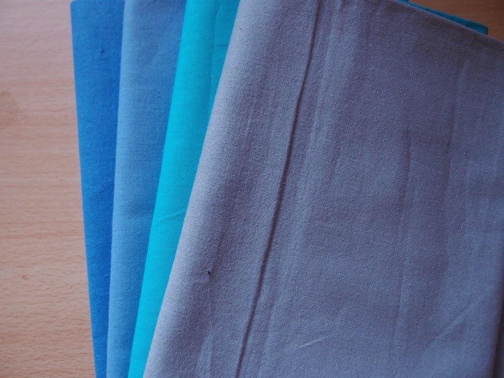 пачуърк платове в синьо №1