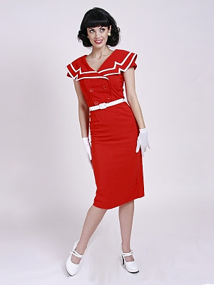 Pencil Dress on Red Captain Pencil Dress By Bettie Page     89 99