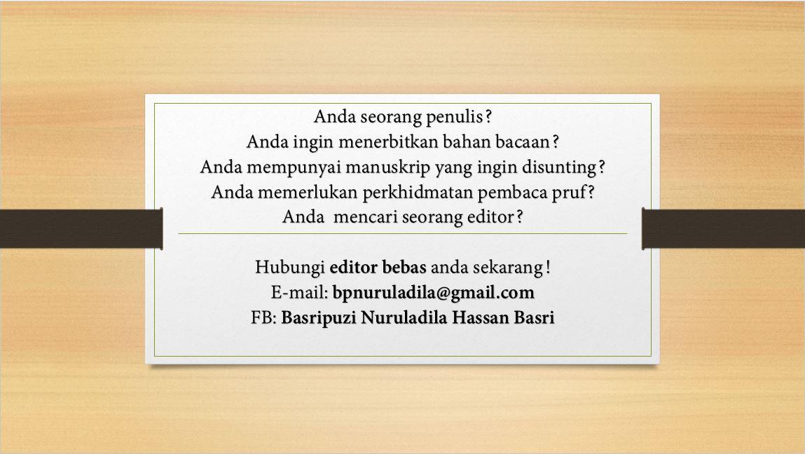 iklan #2: khidmat editor/pembaca pruf bebas (freelance editor/proof reader)