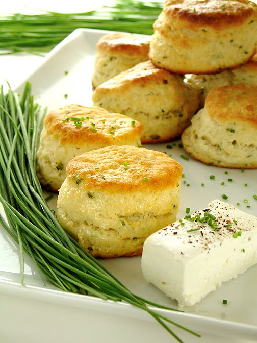 Buttermilk Biscuits With Goat Cheese And Chives Recipe ...