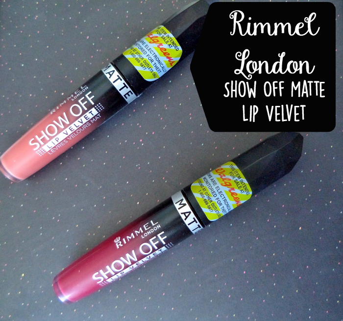 rimmel london show off lip velvet atomic rose meteoric matte swatches and review,