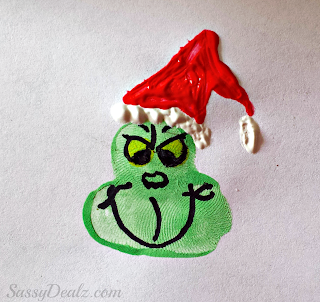 christmas grinch fingerprint craft
